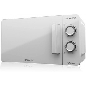 Cecotec Microondas ProClean 3020 Blanco 20L 700W en 6 Niveles de Potencia