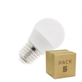 Pack 5 unidades Bombillas LED E27 G45 5W