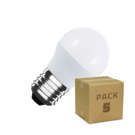 Pack 5 Bombillas LED E27 G45 5W