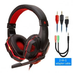 Auriculares gamer estéreo con Led