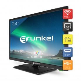 Grunkel - LED-240ASMT - Televisor LED HD Ready Smart TV Wi-Fi - 24 Pulgadas - Negro