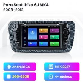Radio Android Para Seat Ibiza 6j MK4 2008-2012 Multimedia GPS De Navigación Bluetooth OBD2