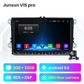 Radio Multimedia con GPS Para Coche, Radio con navegador, 9 Pulgadas, 2 + 32GB, Android 9, Para VW Golf 5, Caddy, Passa B6, Seat
