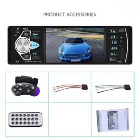 Radio de coche, Audio 1Din, estéreo, FM, USB, SD, Bluetooth, volante, mando a distancia, compatible con cámaras