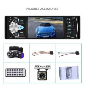 Radio de coche de 4,1 pulgadas con tarjeta SD MMC, USB, FM, Bluetooth, trayectoria dinámica integrada