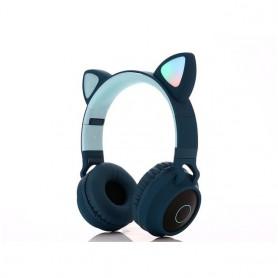 Auriculares de gato inalámbricos con Bluetooth y luz LED