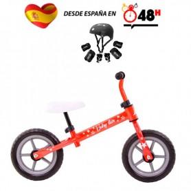 Riscko, Minibike, bicicleta, niños, Baby Star, sin pedales, protecciones incluídas, equilibrio, ajustable, infantil, juguete