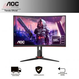 "Monitor AOC C27G2U/BK Full HD (1920x1080, 27"", FreeSync Premium, sin parpadeo, LowBlue Light, Altavoces, VESA, DSUB, HDMI, DP)"