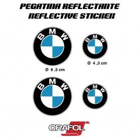 4X Pegatina Reflectante Compatible con BMW Motocicleta de Alta Calidad Etiqueta Adhesivo Vinilo Casco Para Moto Coche