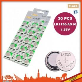 Pilas Boton | LR1130 | AG10 | 30pcs | Pilas de reloj | Pilas de boton | Pila Reloj | Pila Boton | Pilas AG10