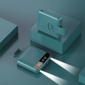 Bateria externa Mini | 8000 | Soporte movil | Powerbank | Luz LED | Bateria portátil | Cargador móvil