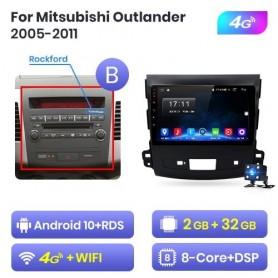 Radio Android para Mitsubishi Outlander (2005-2011) para Peugeot 4007 (2007-2013) para Citroen C-Crosser (2007-2012)