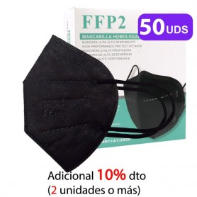Mascarilla Colores FFP2 Con 5 Capas, Blanco / Rosa / Negro, Homologadas CE