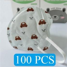 Mascarillas KN95 para niños de 1 a 10 años, de 5 capas máscara facial
