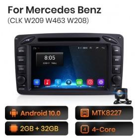 Radio Android para Mercedes Benz CLK W209 W463 W208