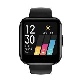 """Smartwatch Realme Watch 161 Negro, pantalla a color de 1,4"""", monitor de frecuencia cardiaca, 14 modos de deporte"""