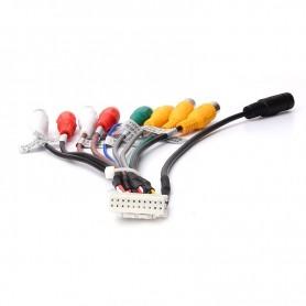 Cable adaptador auxiliar para coche, Radio Estéreo, RCA, salida