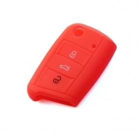Funda de Silicona para llave SEAT Leon Ibiza Ateca Cupra FR Volkswagen Golf Passat Polo Skoda Fabia Gel