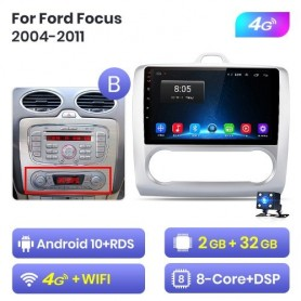Radio Android para Ford Focus 2 3 Mk2/Mk3 hatchback (2004-2011)