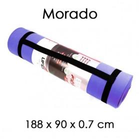 Esterilla Deporte 188 x 90/61 x 0,8 cm para Yoga Entrenamiento Fitness