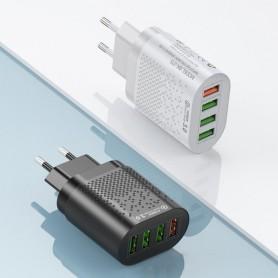 Cargador Carga Rápida 48w Cargador USB con 4 Puertos USB 3.1A