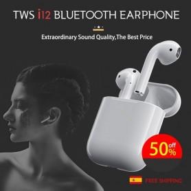 i12 TWS Auriculares Bluetooth 5.0 Inalámbrico Auricular Deportiva