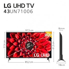 "Television LG 43"" y 55"" Smart TV 4K UHD Panel IPS, HDR 10, ULTRA Surround 20W"