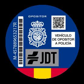 Vinilo de impresión distintivo ambiental vehículo opositor policía nacional España