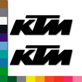 "x2 Pack Vinilo adhesivo alta calidad  ""KTM"" para moto, casco...."