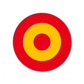 Pack Escarapela aviación diana colores ejercito aire España para casco, coche, moto (diametro 5,5 cm)