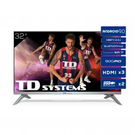 Televisores Smart TV 32 Pulgadas TD Systems K32DLJ12HS. 3x HDMI, DVB-T2/C/S2, HbbTV