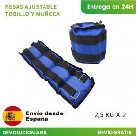 Mancuerna tobillera | Peso para Tobillo Ajustables con Correa 2 Piezas 1/1.5/2/3/4/5/6KG