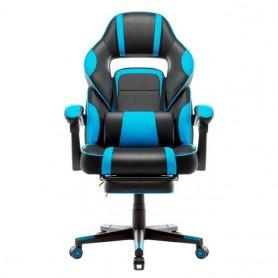 Silla de oficina para juegos de carreras, asiento ejecutivo, reposapiés y cojín Lumbar