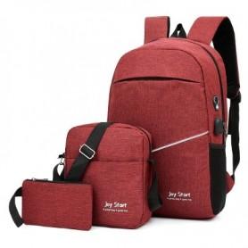 Set de 3 mochilas con carga USB
