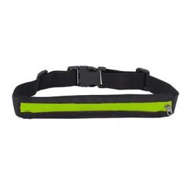 Riñonera deportiva para running, ciclismo o senderismo bolsa elástica y ajustable con cierre cremallera impermeable para correr
