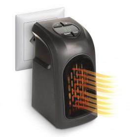 Calefactor eléctrico portátil con enchufe 400W con temperatura regulable y bajo consumo