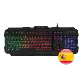 Mars Gaming MRK0, Teclados Gaming Antighosting, RGB Rainbow