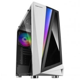 Mars Gaming MCL, Caja de Ordenador, Semitorre ATX, Vidrio templado, Ventilador 12cm RGB Core trasero incluido, LED 46 efectos