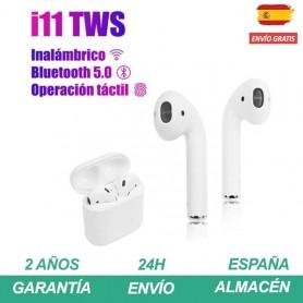 i11 tws Auriculares bluetooth inalambricos con micrófono y caja de carga