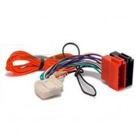 Cable adaptador de enchufe para Nissan Qashqai Murano Pulsar Micra Tiida CII Juke F15 Navara D40, conector ISO para coche