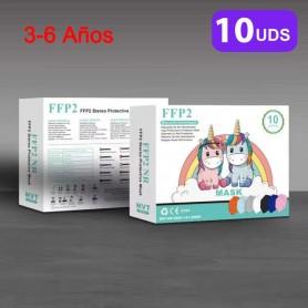 3-14 Años Mascarilla Infantil FFP2 Colores, FFP2 Dibujos, Mascarillas Niños Reutilizable, CE Homologada