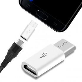 Adaptador Micro USB a Tipo C para XIAOMI HUAWEI SAMSUNG GALAXY conector conversor carga rapida elige color