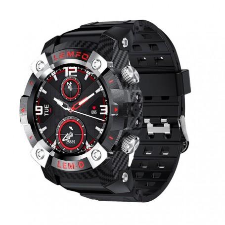 Reloj deportivo 2 en 1 con auriculares incorporados para hombre, pantalla HD de 360x360, batería de 350Mah, reloj inteligente en