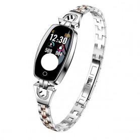 Reloj inteligente para mujer (Versión 2019), a prueba de agua, pulsómetro