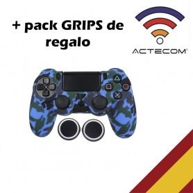 Funda para mando + agarre de Silicona, Azul, para Sony PS4, Playstation 4