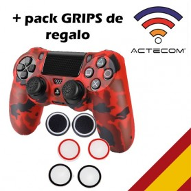 Funda Carcasa + Grip Silicona Camuflaje Mando Sony PS4 Playstation 4