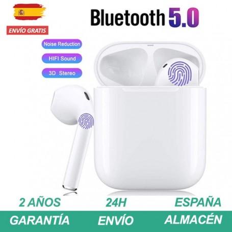 i12 tws Auriculares bluetooth inalambrico airpods con micrófono y caja de carga Cascos música Earphone Pinganillo con control Tá