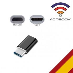 Adaptador Micro USB A Tipo C para Samsung Huawei XIAOMI LG Sony