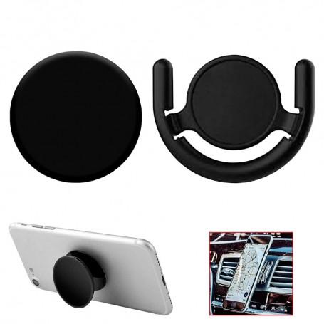 Soporte Clip Universal Socket para smartphones como Samsung Galaxy S9/S8/A/J/Note/9/8/7/6/5/Plus Negro Xiaomi Estante chincheta