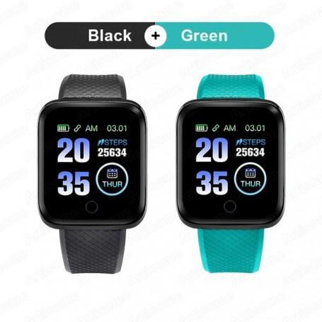 2x 1x Reloj inteligente económico para hombre y mujer con control de ritmo cardíaco